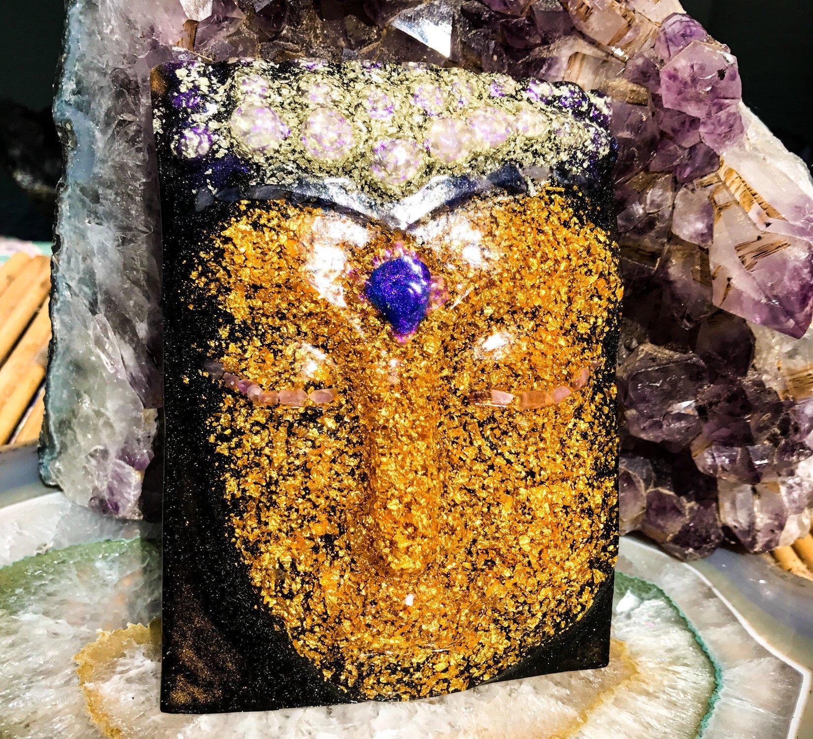 Orgonite Buddha / 24K Gold Orgone