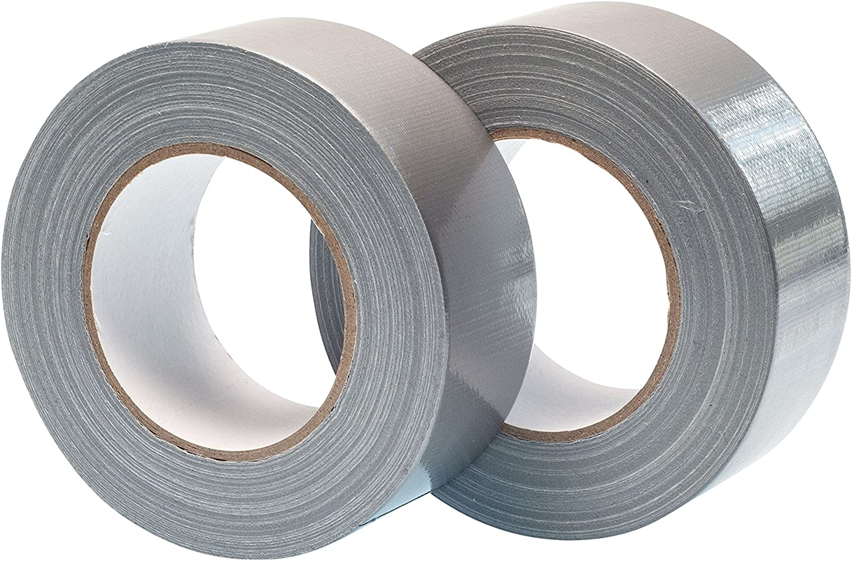 blanc Gocableties Lot de 2 rouleaux de ruban adh/ésif toil/é 50 m x 48 mm
