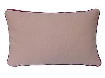 BRISA JARDIN - Cojín rectangular Ribete - 30x50 cm, Rosa ...