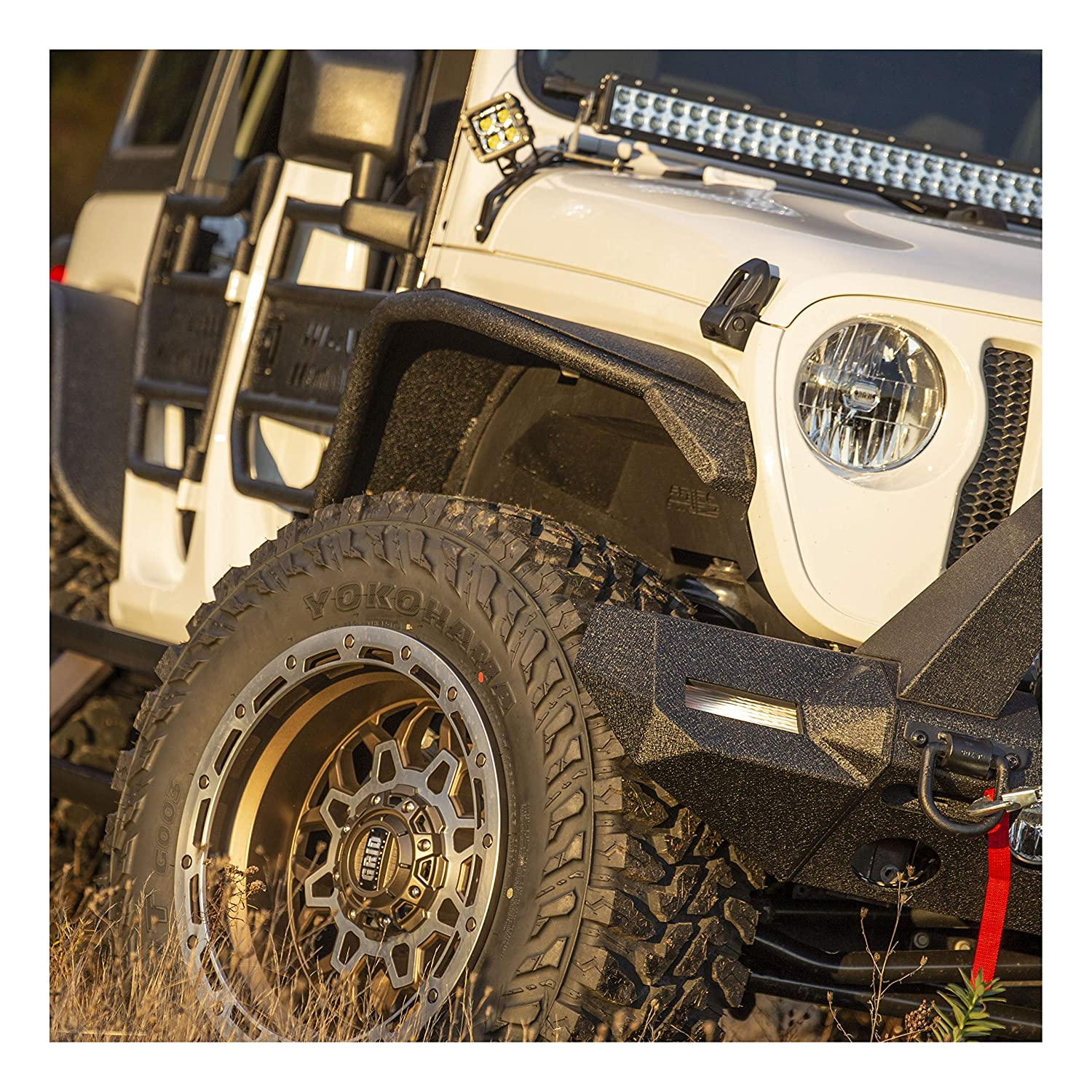 ARIES 2081208 TrailChaser Steel Front Jeep Bumper Corners