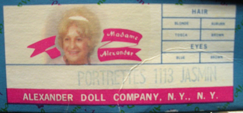 Madame Alexander Jasmin 1113