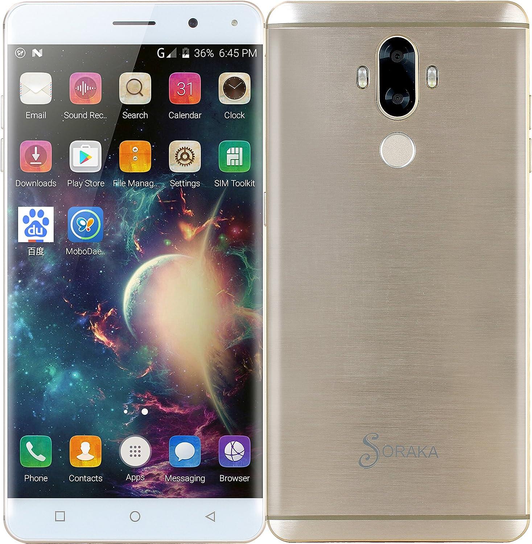 SORAKA unlocked Smartphone 4G FDD-LTE MTK6737 6.0 pulgadas ROM ...