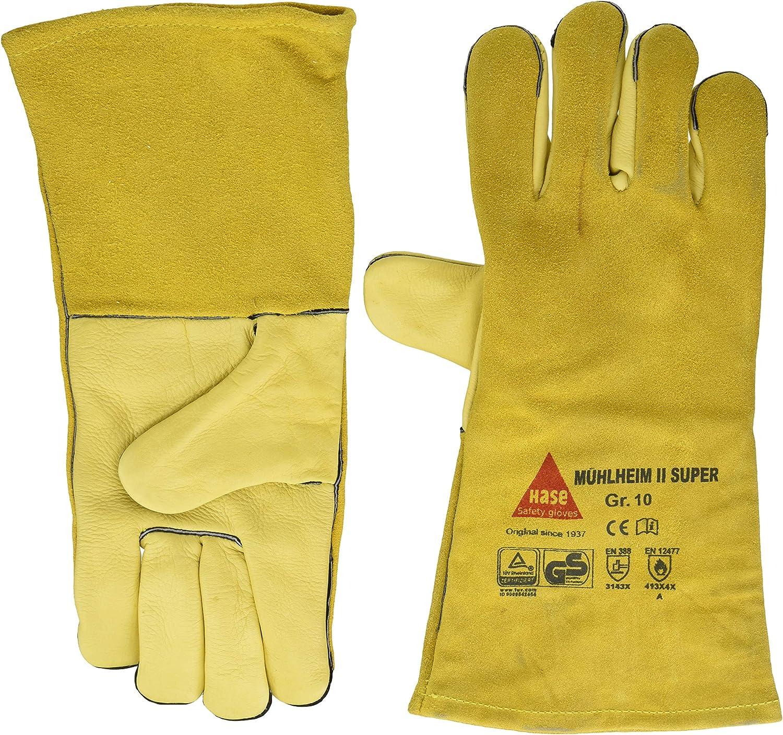 Gef/ütterter Soldering gloves M/ÜHLHEIM II-SUPER Cow grain leather T/ÜV//GS