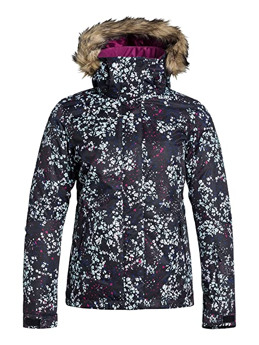 Roxy Jet Ski JK - Chaqueta de nieve para mujer, color negro, talla S