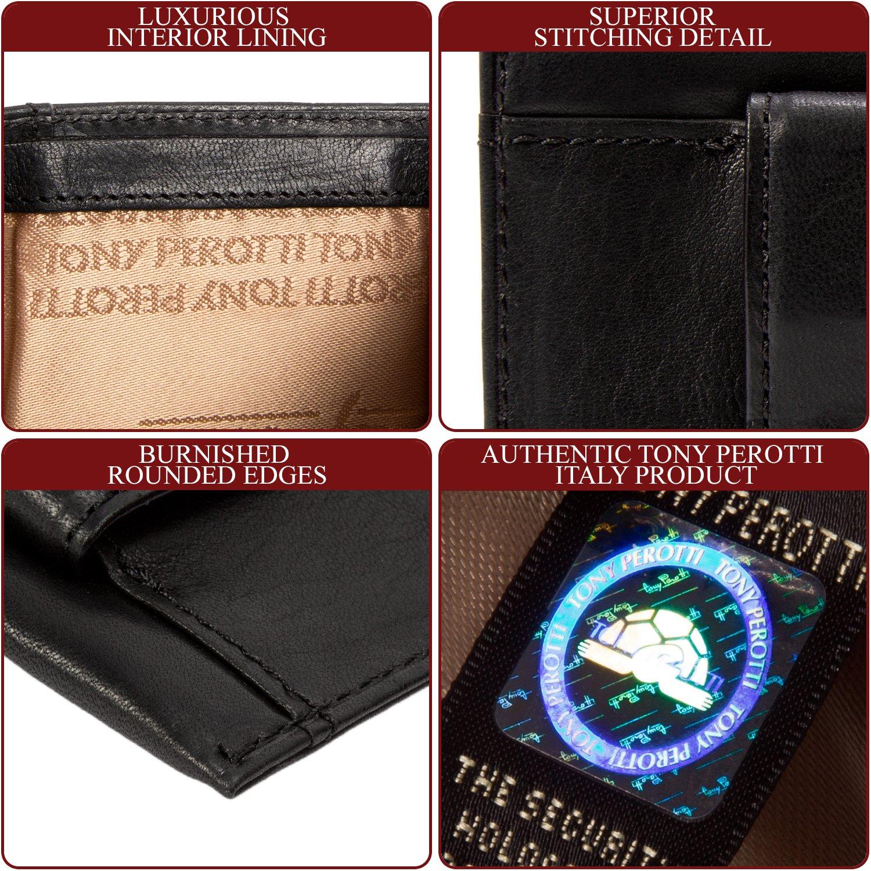 Mens Minimalist Front Pocket Money Clip Wallet /& Card Holder Italian Leather