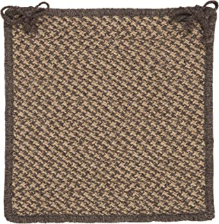 product image for Colonial Mills HD34 Oak Harbour Natural Wool Houndstooth Chair Pad, 15 by 15-Inch, Caramel, 1-Pack