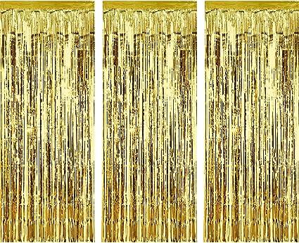 Amazon.com: Sumind - Juego de 3 cortinas metálicas con ...
