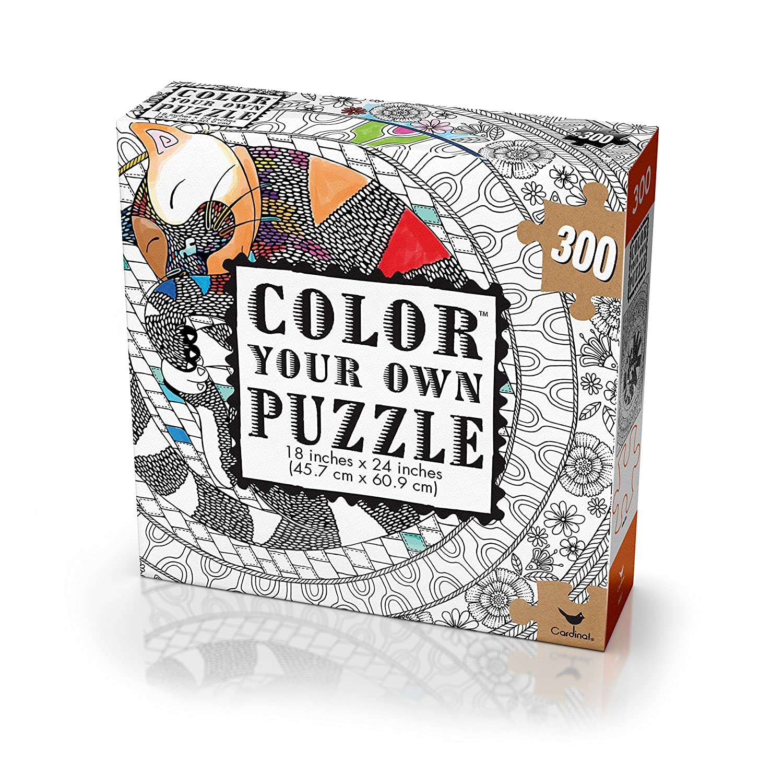 - Puzzles Spielzeug Color Your Own Puzzle Cardinal 300 Piece 18 X 24