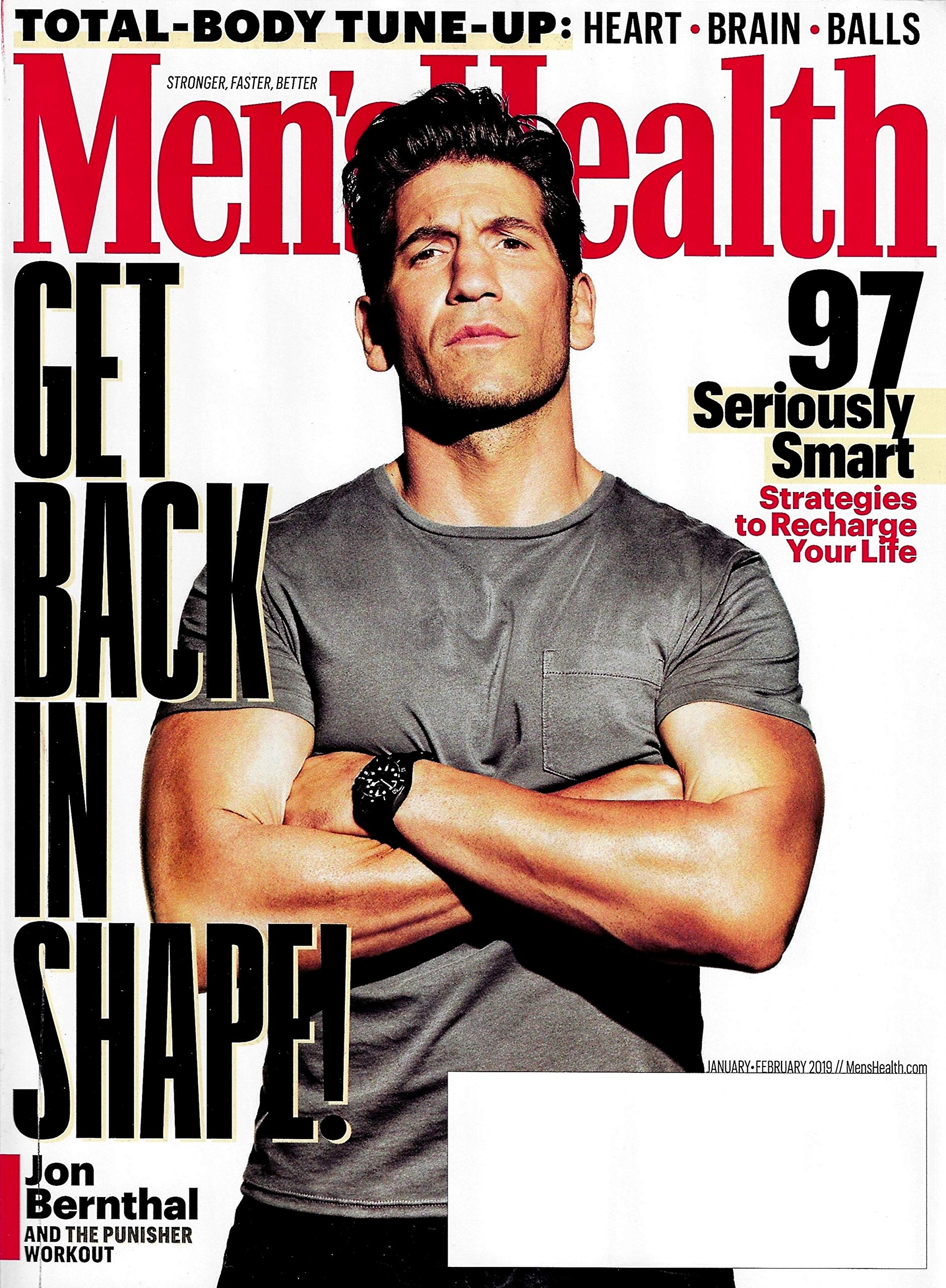 Mens Health Magazine Januaryfebruary 2019 Jon Bernthal And The