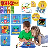 ETI Toys, STEM Learning, 490 Piece Mosaic Puzzle. Build Cat, House, Alligator, and More. 100 Percent Safe, Fun, Creative Skills Development. Gift, Toy for 3, 4, 5 Year Old Boys and Girls.