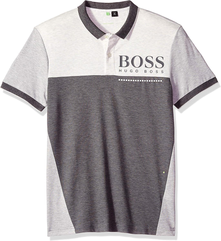 Hugo Boss Hombre 50399317 Manga Corta Camisa Polo - Gris - 3X ...