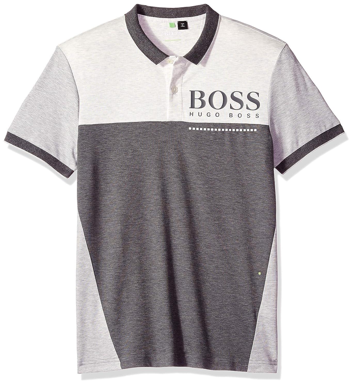 ヒューゴボス PL-テック 半袖ポロシャツ XL グレー B07D6PFKV8