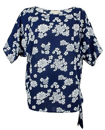 Michael Kors Top de Corbata Lateral para Mujer - Azul - Small ...