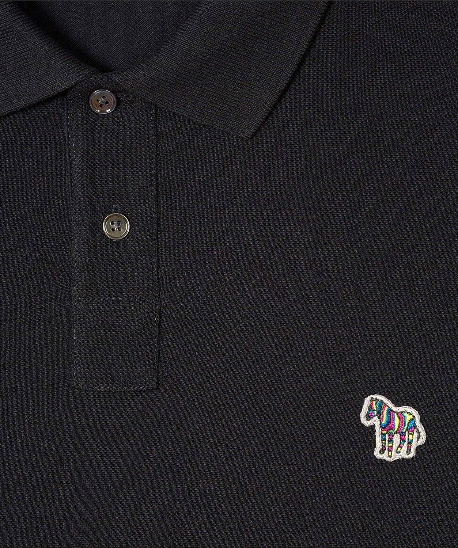 Paul Smith - Polo de manga larga, diseño de cebra, color negro ...