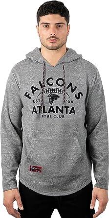 Ultra Game NFL Mens Full Zip Soft Fleece Raglan Hoodie