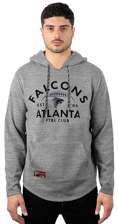 d4c58d2ebdc0 Icer Brands NFL Atlanta Falcons Men s Fleece Hoodie Pullover Sweatshirt  Vintage Logo