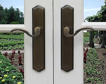 Dummy Door Lever Handle U0026 Escutcheon Back Plate Ambassador For Inactive  Double Doors Or Closet Doors