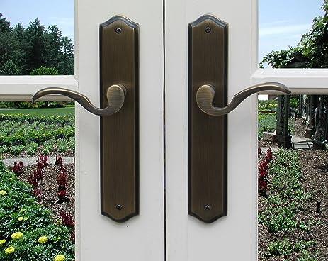 Mortise Lock Entry Door Lockset With Deadbolt Ambassador Lever Handle Door  Hardware In Distressed Dark Bronze