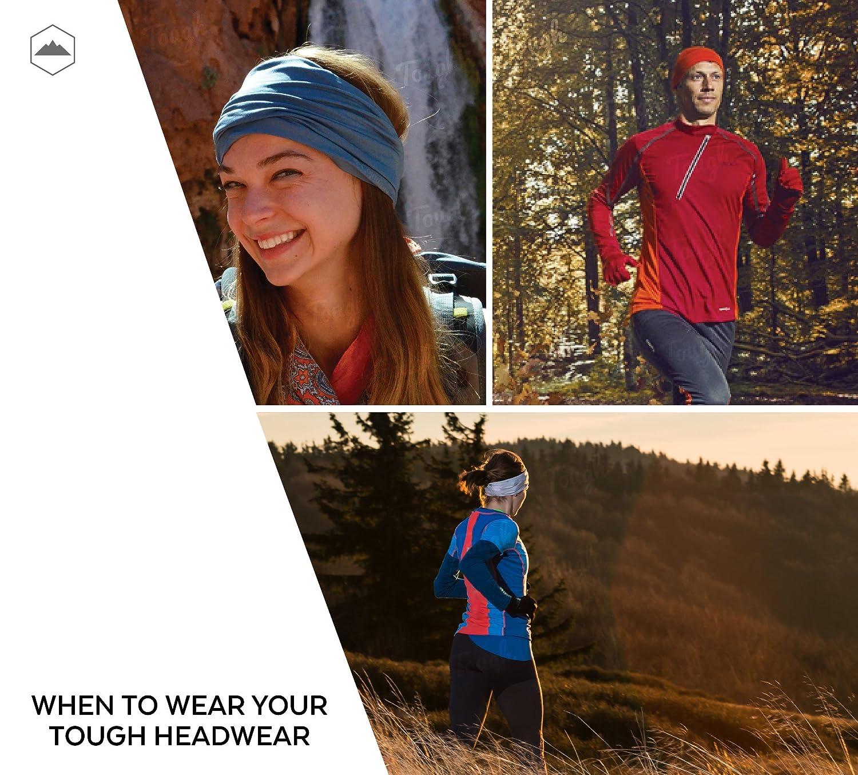 Running Ultimate Protection from Sunburn /& Dust Neck Gaiter Balaclava Helmet Liner Skiing /& Snowboarding Yoga Cycling Tough Headband 12-in-1 UPF 30 Multi-Use Sports /& Casual Headwear Lightweight Bandana for Hiking