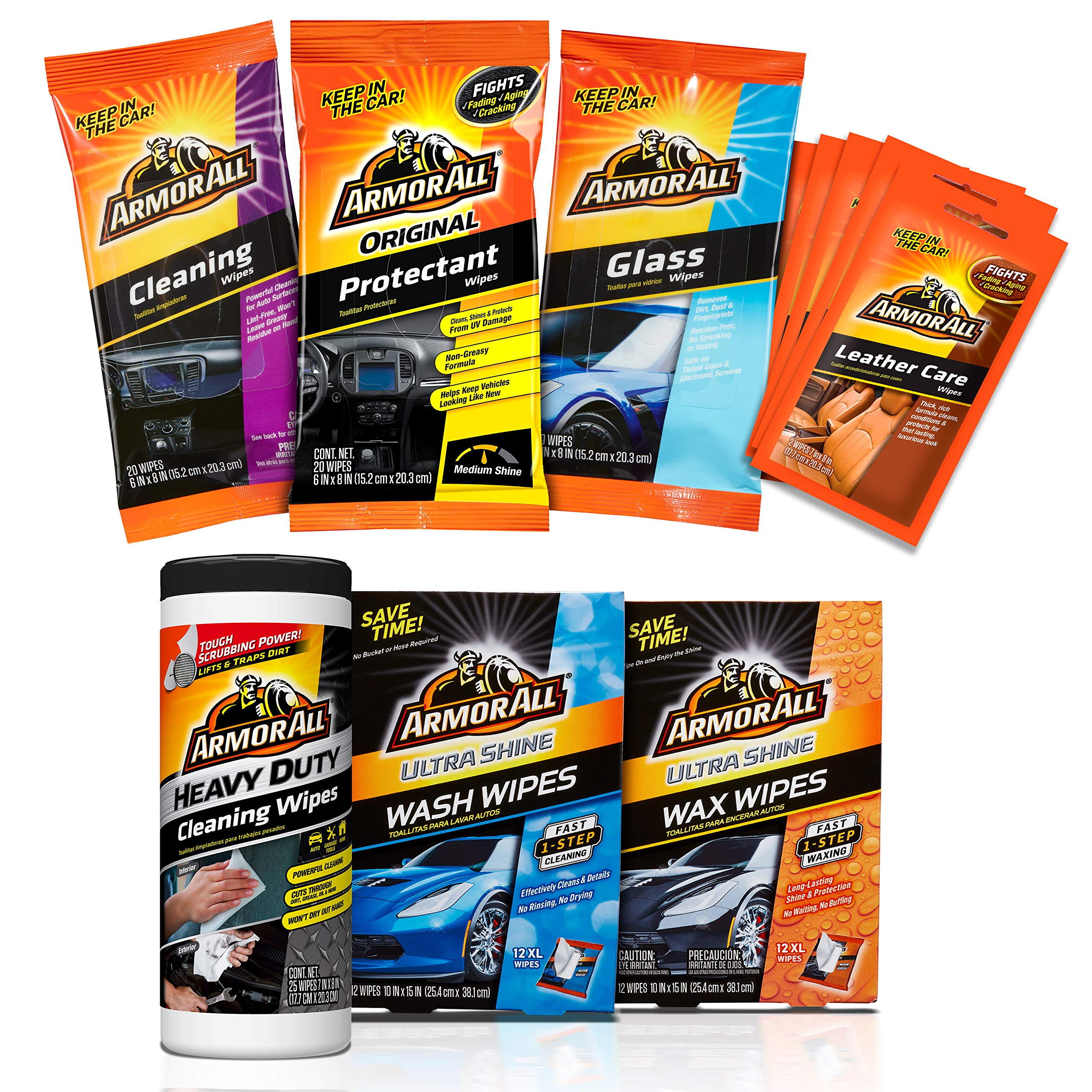 Armor All Bumper to Bumper Car Wash/Cleaning Wipes Kit