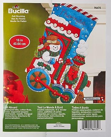 Amazon.de: Bucilla 86435 Filz Aufnäher Weihnachtsstrumpf Kit (40, 6 ...