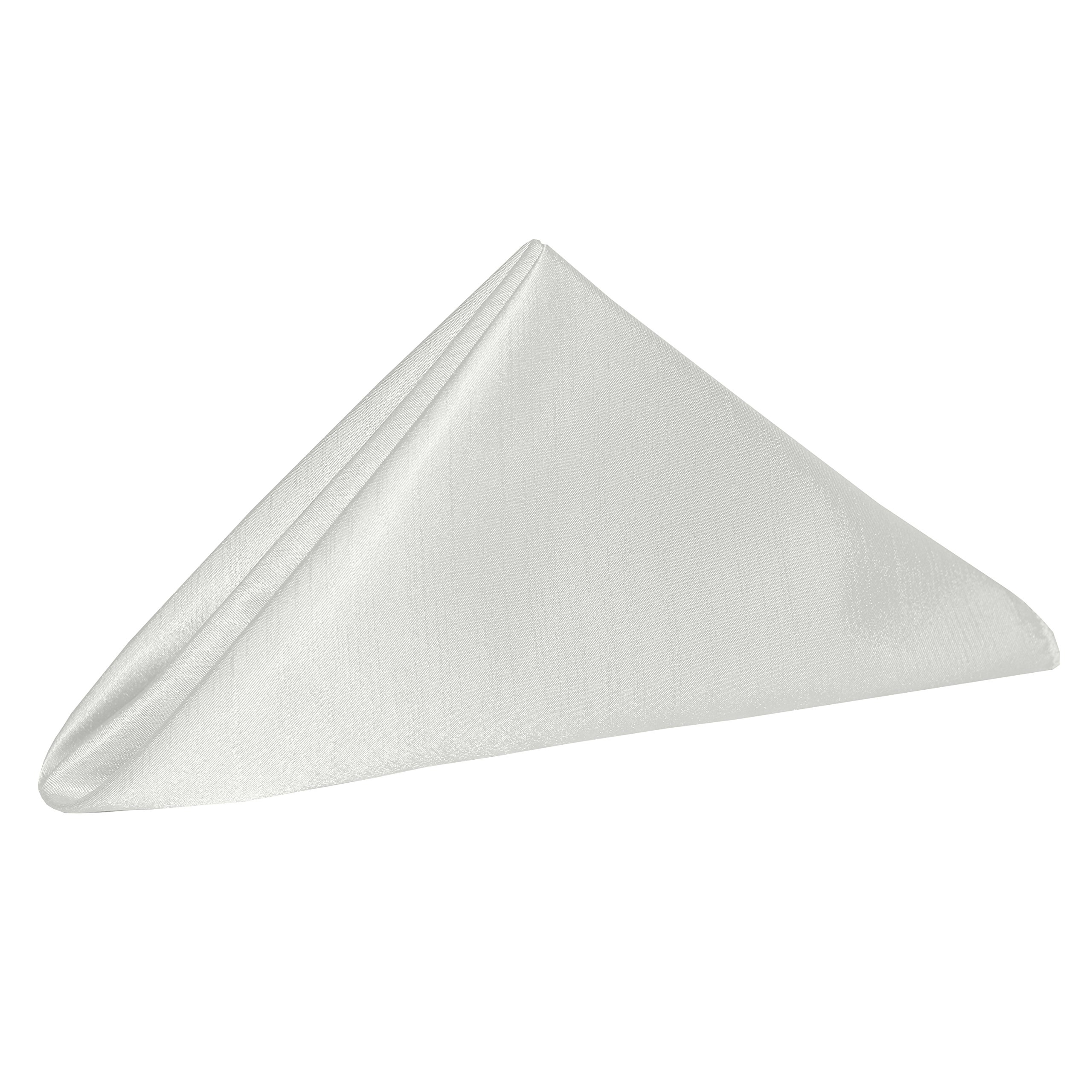 Ultimate Textile -5 Dozen- Reversible Shantung Satin - Majestic 20 x 20-Inch Cloth Dinner Napkins, White by Ultimate Textile (Image #2)
