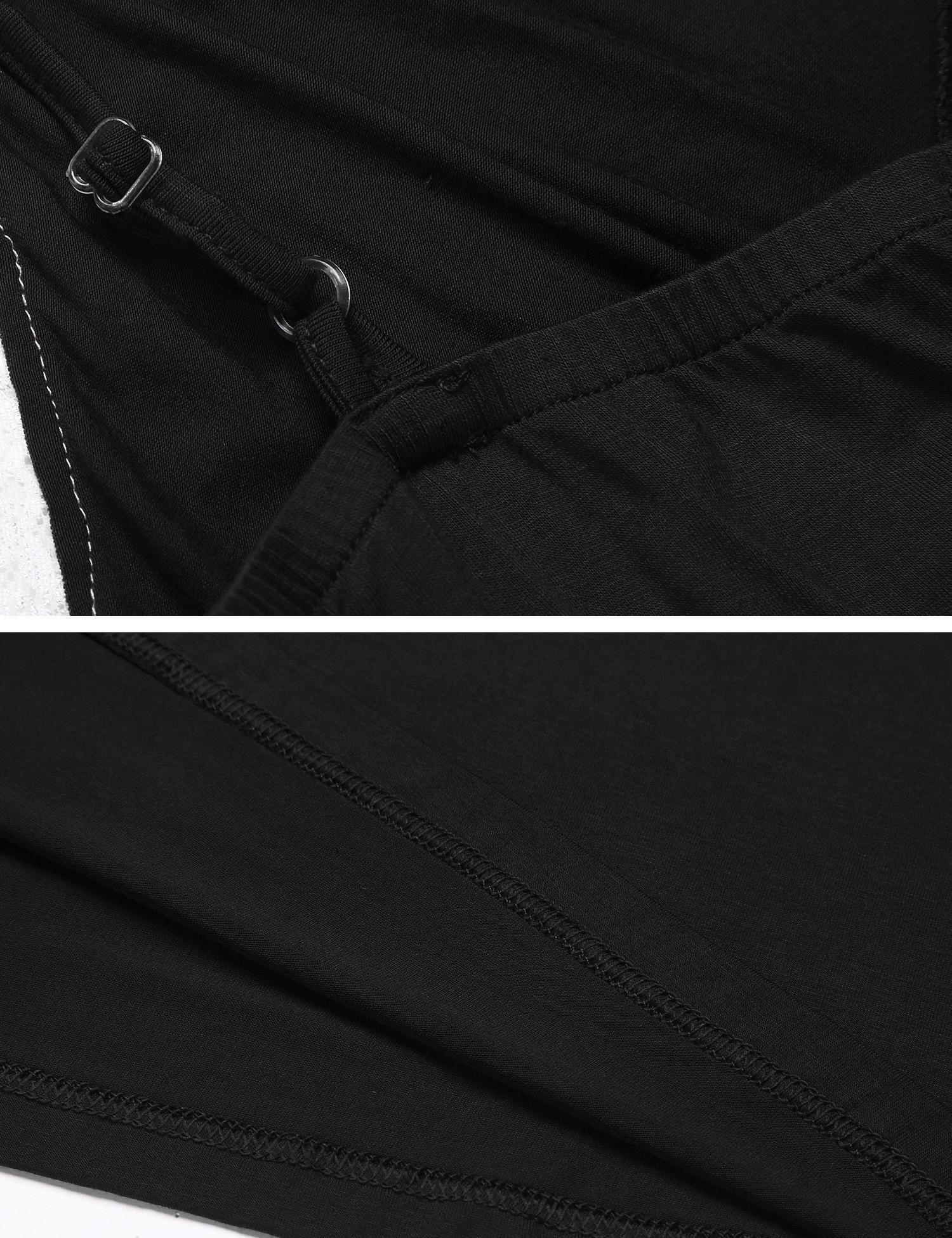 MAXMODA Womens Sleepwear Cotton Pajama Cami Set Sexy Nightwear (Black L) by MAXMODA (Image #6)