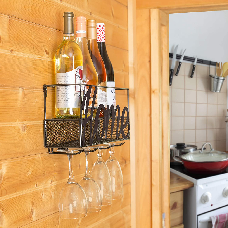Amazoncom Besti Wine Rack Home Or Wine Model Wine Rack Wall - Vineyard-by-pack-a-rack
