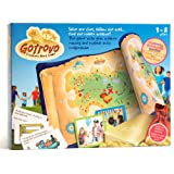 Gotrovo Treasure Hunt Game Indoor Outdoor DIY Educational Activity for Kids Pirate & Scavenger Hunt Learn through Fun - 100 Clue Cards, Treasure Map, Treasure Bar, Gold Coins and Loot Bag