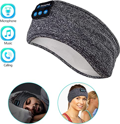 Sleep Headphones Wireless, Perytong Bluetooth Sports Headband Headphones with Ultra-Thin HD Stereo Speakers Perfect for Sleeping,Workout,Jogging,Yoga,Insomnia, Air Travel, Meditation, Grey