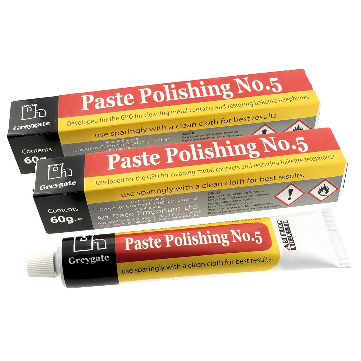 Hard Plastic and Vintage Bakelite Renovation Polishing Paste (2 tubes of 60g) Greygate OTH-GG-PASTE-60
