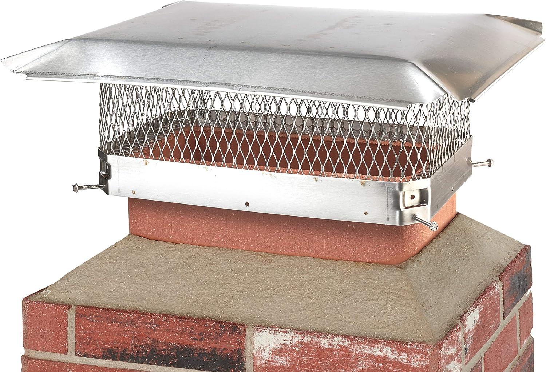 Proyecto de King SSC1017U perno de acero inoxidable único cubierta para chimenea de chimenea para uso en California y Oregon: Amazon.es: Bricolaje y herramientas