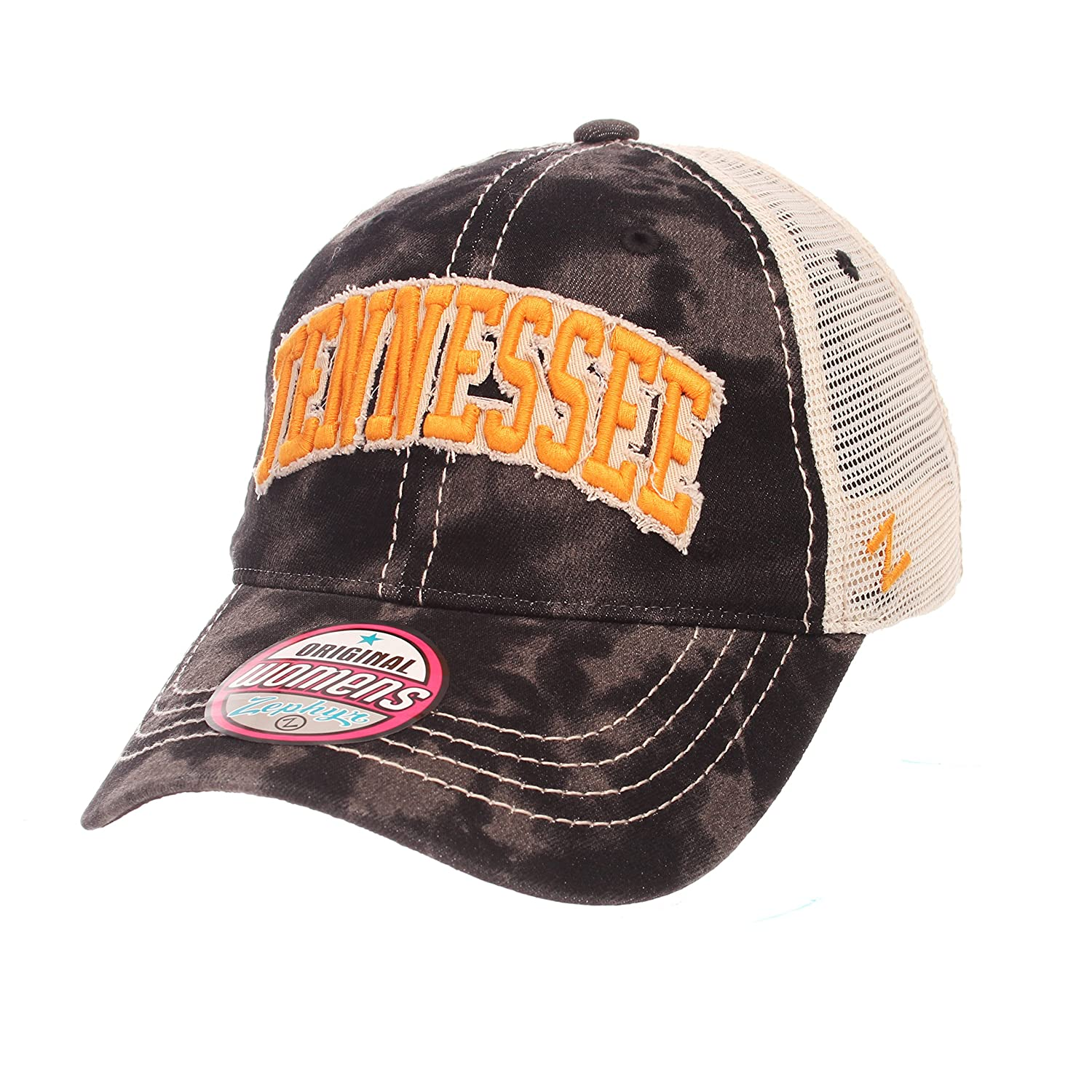 Adjustable NCAA Tennessee Volunteers Adult Women Dixie Womens Relaxed Hat Black