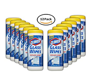 PACK OF 12 - Clorox Glass Wipes, Radiant Clean, 32 Count