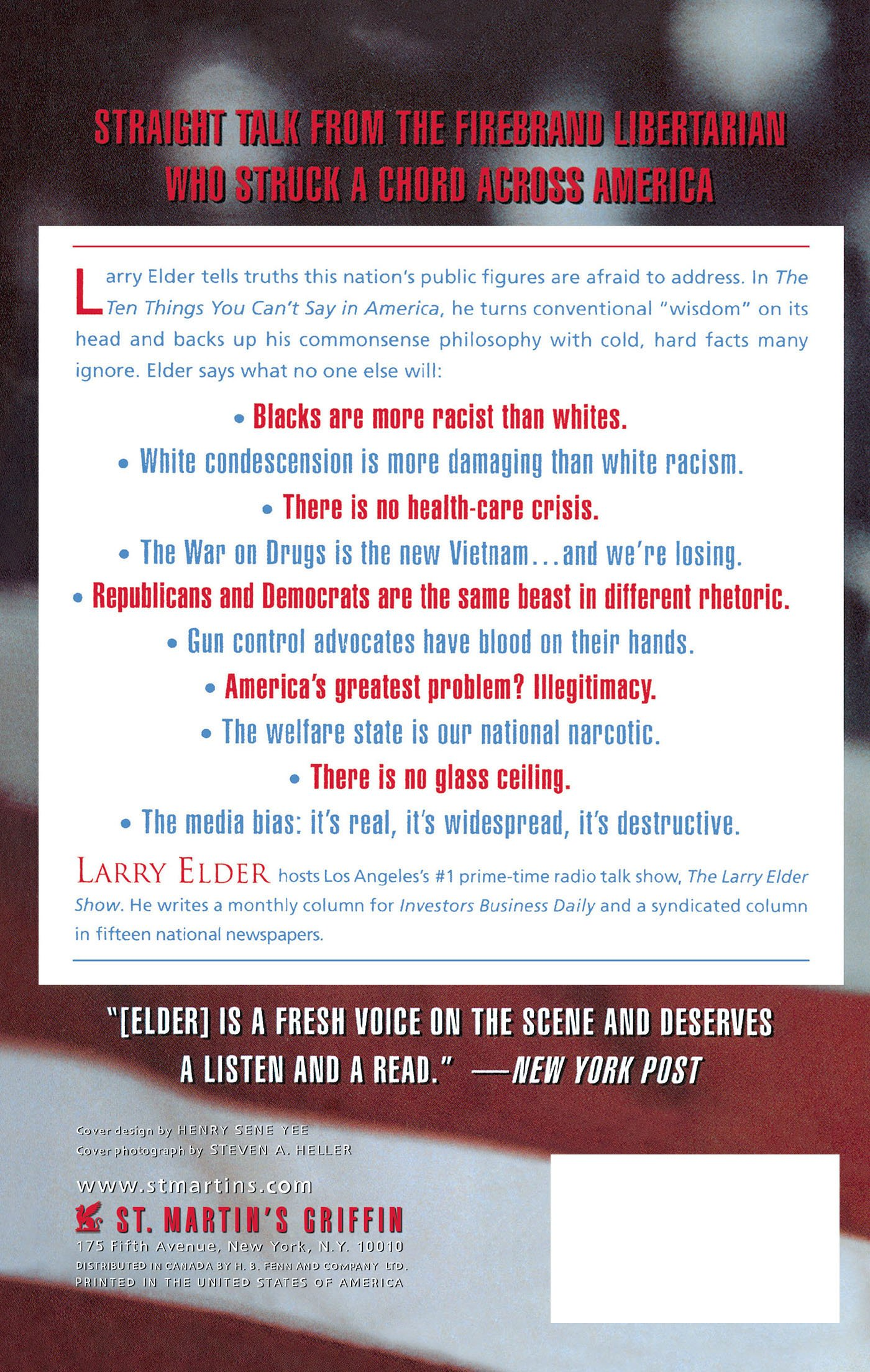 the ten things you can t say in america larry elder