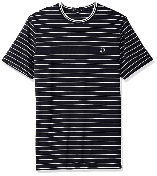 Fred Perry Herren Pique Streifen T-shirt S Marine