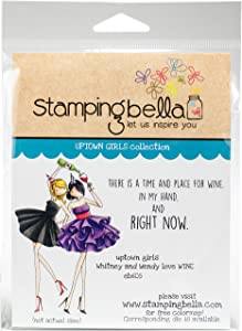 Stamping Bella Uptown Girls Whitney & Wendy Love Wine Cling Stamps