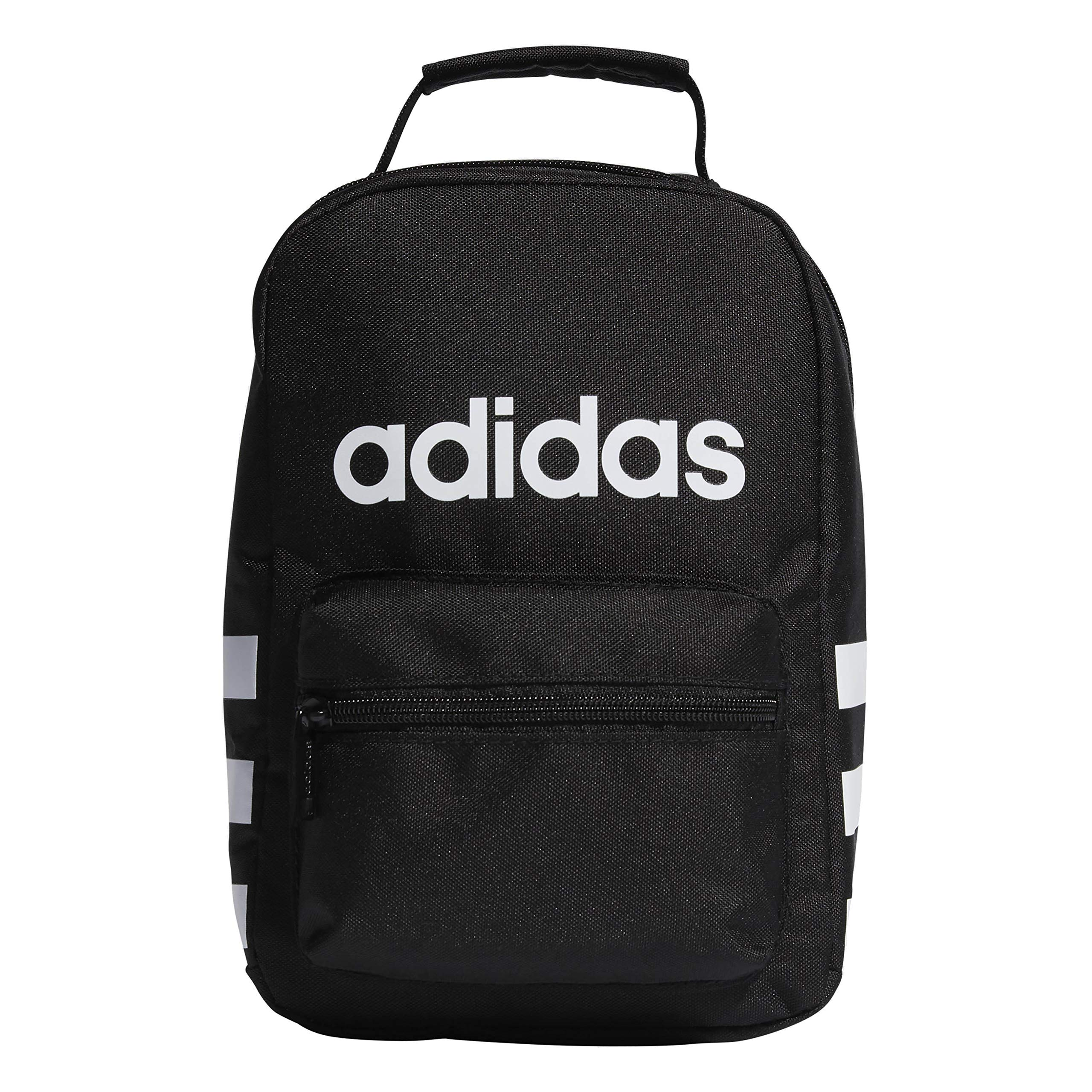 adidas Unisex Santiago Insulated Lunch Bag, Black/White, ONE SIZE by adidas