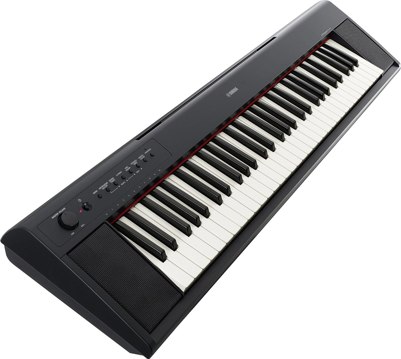 Yamaha NP-11 - Teclado electrónico (plástico, 61 teclas, 2 altavoces integrados), color negro
