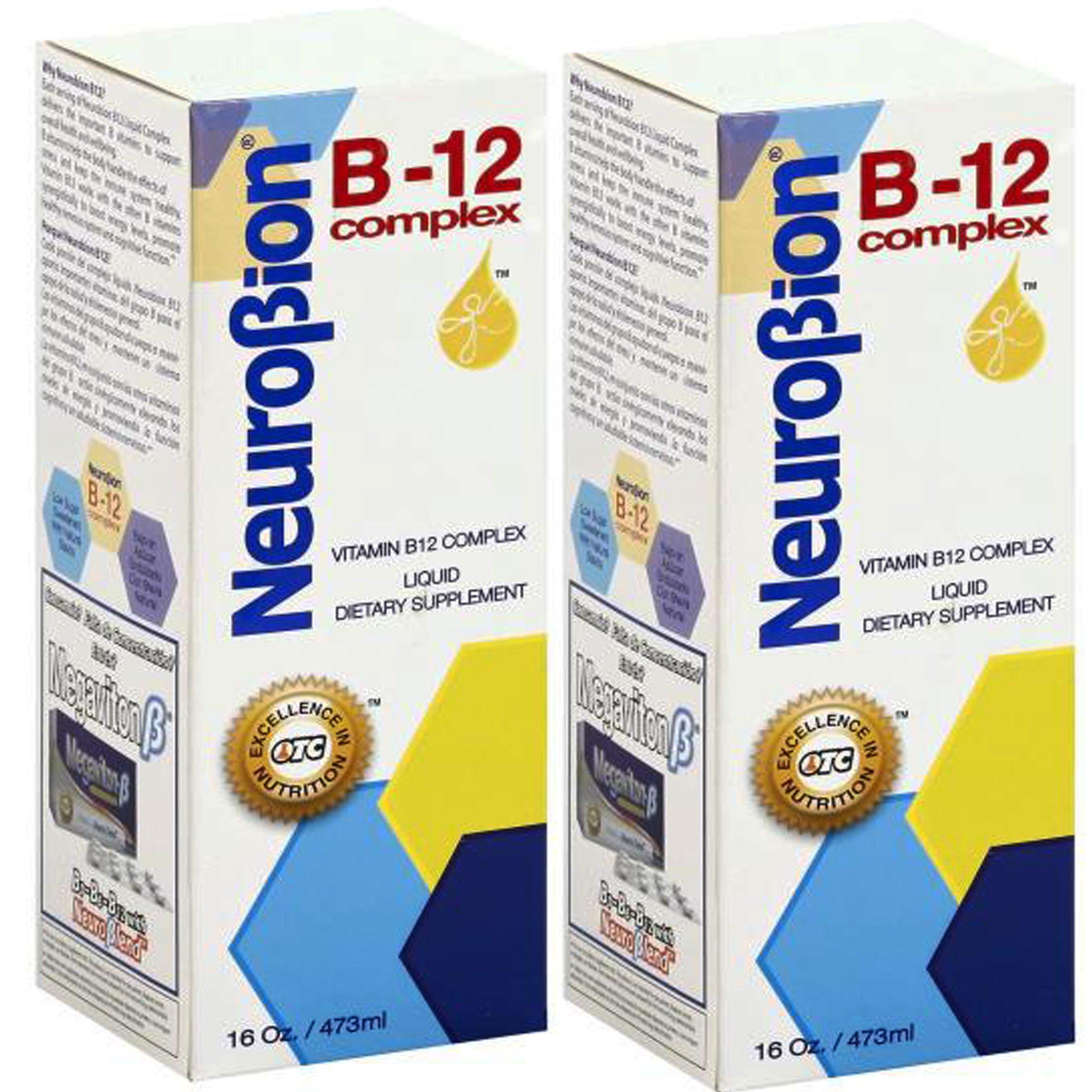 Neurobion Vitamin B12 Complex 16 Oz Liquid Citrus Flavor 2 Pack