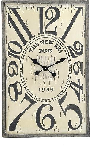 Zentique Wooden Clock, White