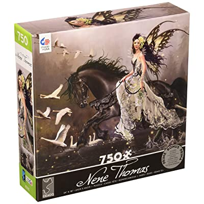 Ceaco 2993-21 Nene Thomas Swans Puzzle - 750Piece, 18'' x 24'': Toys & Games