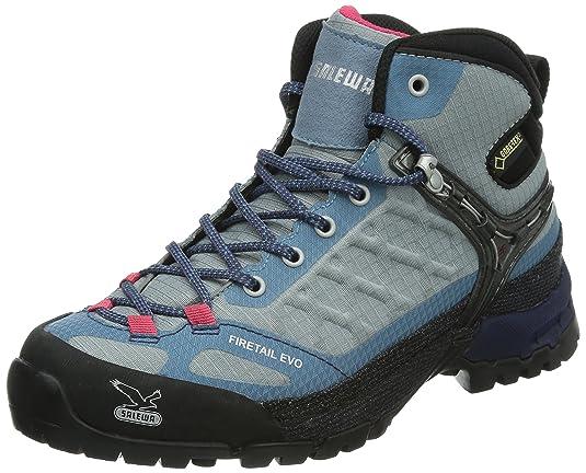 Salewa WS FIRETAIL EVO MID GTX, Damen Trekking- & Wanderstiefel, Schwarz (0923 Black/Gneiss), 35