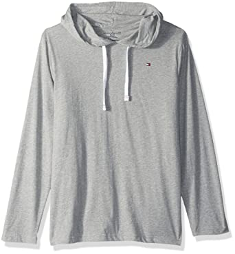 07437863f Tommy Hilfiger Men's Cotton Classics Pullover Hoodie, Grey Heather, Medium