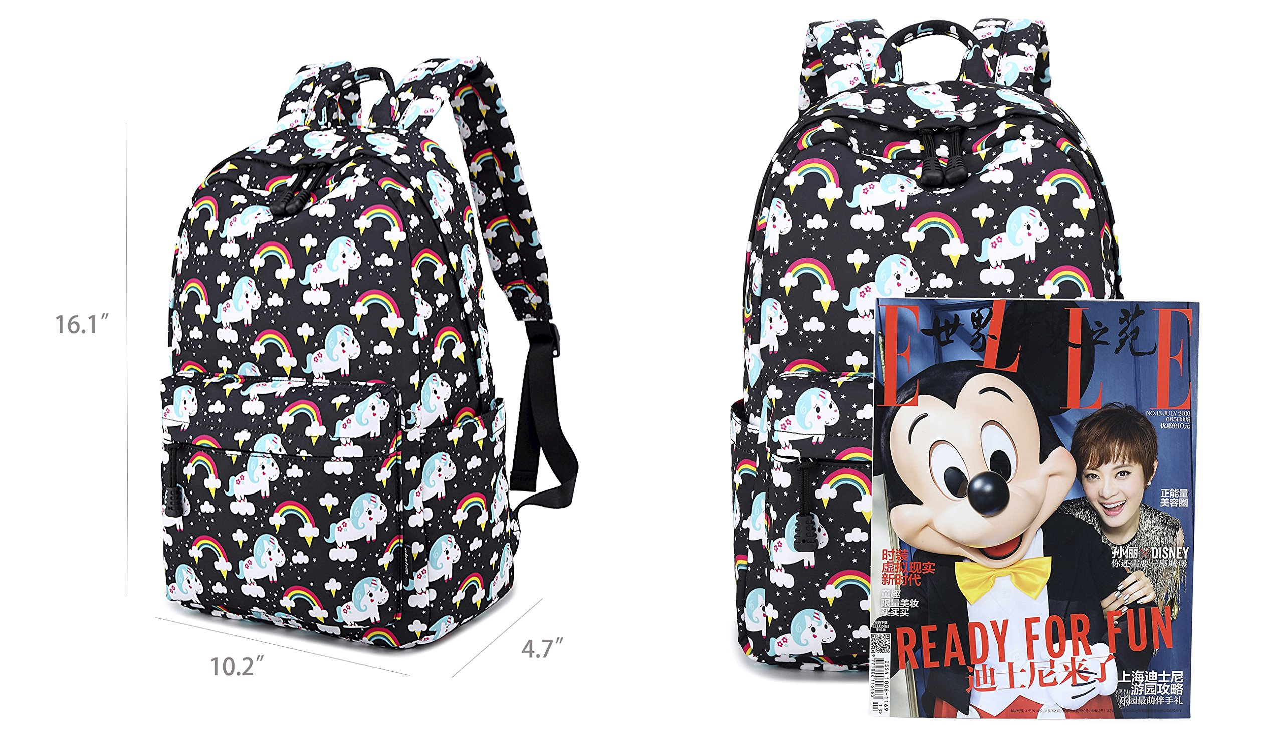 Abshoo Cute Lightweight Unicorn Backpacks Girls School Bags Kids Bookbags 10