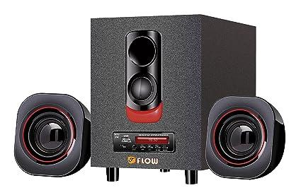 Flow Blaze 2 1 Multimedia Bluetooth Speaker System with FM USB MMC Digital  Display Remote