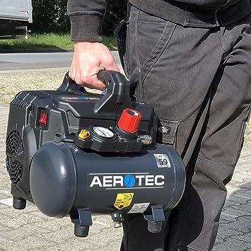 Silent Compresor de aire a presión, 1,0 CV, 6 litros, 8 bar, compresor de aire silencioso, portátil, compresor supersil 6: Amazon.es: Bricolaje y herramientas