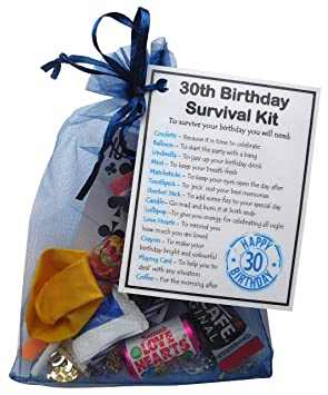 SMILE GIFTS UK 30th Birthday Survival Kit Gift