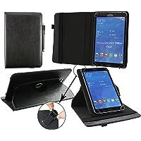 Emartbuy Mediacom SmartPad MX 10 HD Lite Tablet PC 10.1 Pollice Universale (9-10 Pollice) Nero PU Pelle 360° Rotante Folio Wallet Custodia Case Cover + Nero Stilo