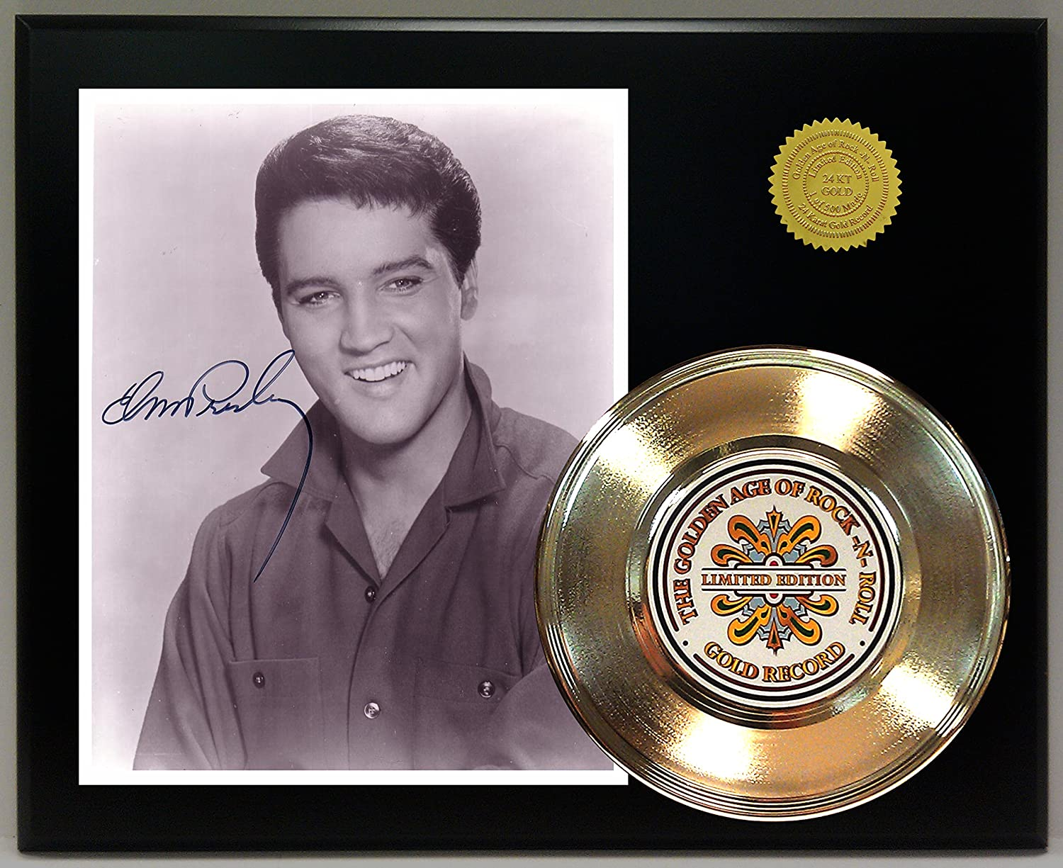 Elvis Presley Gold Record Reproduction Signature Series LTD Edition Display